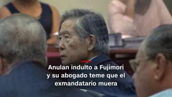 #MinutoCNN: Fujimori podría morir si vuelve a prisión, según su abogado
