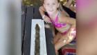 Una niña encontró una espada de la era previkinga en un lago