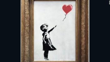 Imagen de 'Niña con globo' de Banksy.