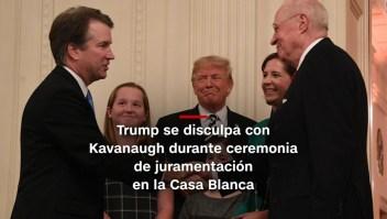 #MinutoCNN: Trump recibe a Kavanaugh para ceremonia en la Casa Blanca