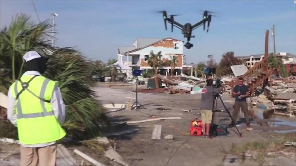 Los drones son el mejor aliado para medir la magnitud de un desastre