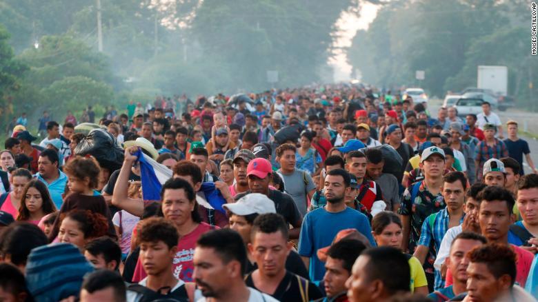 Migrantes de la caravana en México. (Crédito: AP Photo/Moises Castillo)
