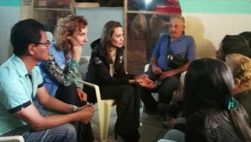 Angelina Jolie atenta a la situación de los inmigrantes venezolanos
