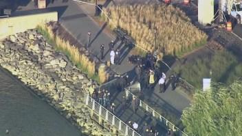 Los cadáveres fueron encontrados el miércoles a orillas del río Hudson en el Upper West Side de Manhattan.