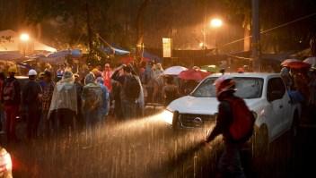 Lluvia en Ciudad de México en 2017. (Crédito: YURI CORTEZ/AFP/Getty Images)