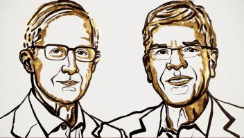 Ilustración de William D. Nordhaus y Paul M. Romer, ganadores del Nobel de Economía 2018