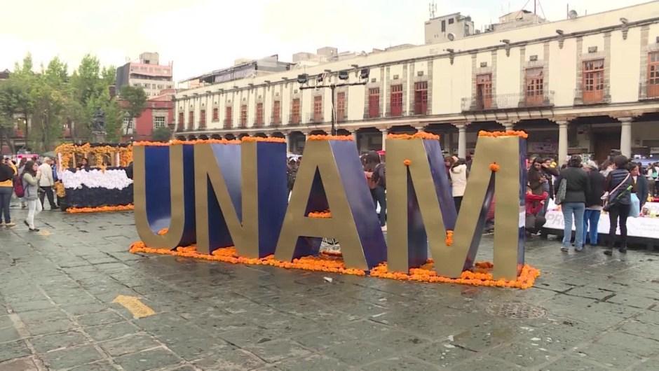 La UNAM rinde honor a los muertos