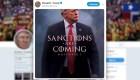 El particular anuncio de Trump sobre sanciones a Irán