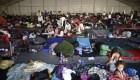 Así acampa la caravana inmigrante en la Ciudad de México