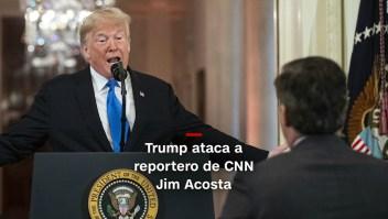 #MinutoCNN: Trump ataca a reportero de CNN Jim Acosta
