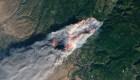 El voraz incendio Camp Fire, visto desde el espacio