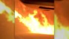 Este hombre logró escapar del fuego en una carretera de Malibú