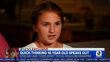 Esta niña de 10 años detuvo un posible secuestro