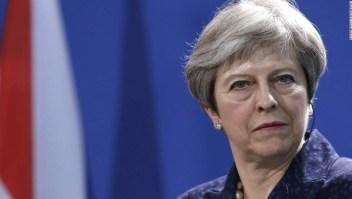 Imagen de archivo de Theresa May durante una rueda de prensa. (Crédito: Michele Tantussi/Getty Images)