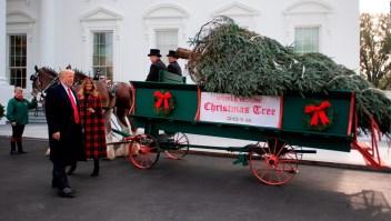 Árbol de navidad llega a Casa Blanca