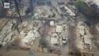 Dron capta la destrucción de los incendios en California