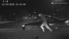 Un sospechoso de robo termina atropellado por su propio auto