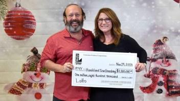 ¡Una pareja se llevó una sorpresa millonaria!