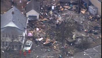 Una residencia quedó totalmente destruída por una explosión
