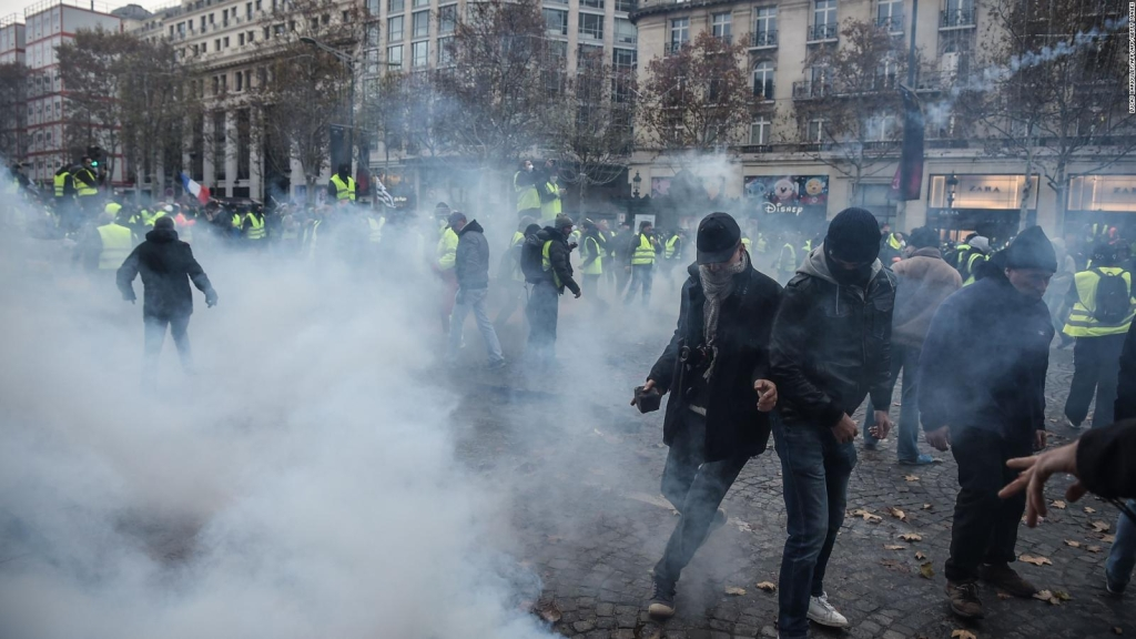 Protestas en contra de las políticas de Macron