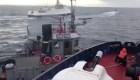Supuesto choque entre barco ruso y remolcador ucraniano