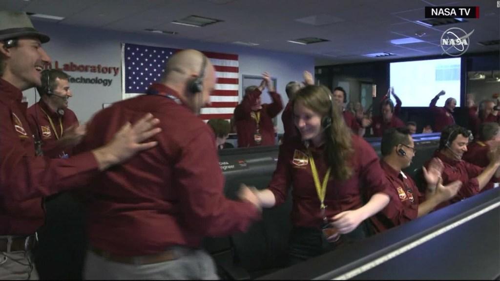 El júbilo en la NASA cuando aterrizó InSight en Marte