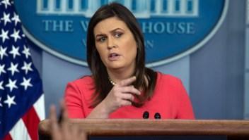#FraseDirecta: Sarah Sanders justificó acciones en la frontera