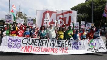 Protestas anticumbre del G20 en Argentina