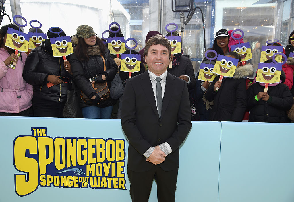 """NEW YORK, NY - JANUARY 31: Executive Producer Stephen Hillenburg attends the World Premiere of """"The SpongeBob Movie: Sponge Out Of Water 3D"""" at the AMC Lincoln Square on January 31, 2015 in New York City. (Photo by Dimitrios Kambouris/Getty Images for Paramount International)"""