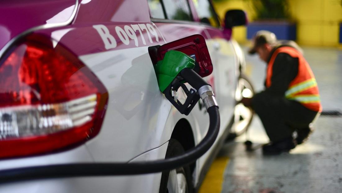 Gasolinera en México Citi. (Crédito: PEDRO PARDO/AFP/Getty Images)
