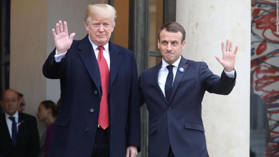 ¿Cuánto mide Tom Holland? - Altura - Real height - Página 5 Trump-macron-francia-estados-unidos