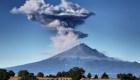 Despertó de nuevo el gigante volcán  Popocatépetl