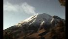 Actividad en el volcán Popocatépetl