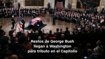 #MinutoCNN: Restos de George Bush llegan a Washington