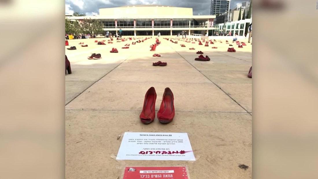 Zapatos rojos contra el feminicidio
