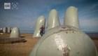 'La mano': imán fotográfico de Punta del Este, Uruguay