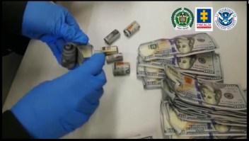 Banda contrabandeaba dólares en estómagos