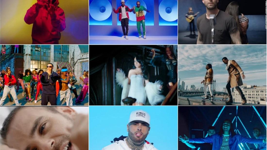 8 de los 10 videos musicales más vistos son en español