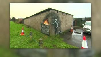Banksy reaparece con su arte callejero en invierno