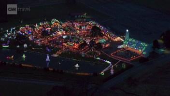 Así se ven un millón de luces de Navidad