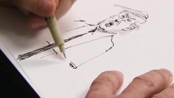 El proceso creativo de un caricaturista político en la era Trump