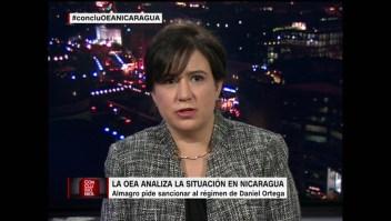 """Montserrat Solano: """"El pueblo de Nicaragua no está solo"""""""