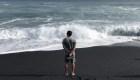 Hawai tiene una nueva playa negra gracias al volcán Kilauea