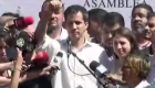 Juan Guaidó tras ser liberado: Aquí está el símbolo de la resistencia, de la valentía