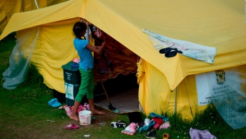 Bogotá desmonta campamento para venezolanos