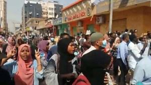 Muere un médico en manifestaciones en Sudán