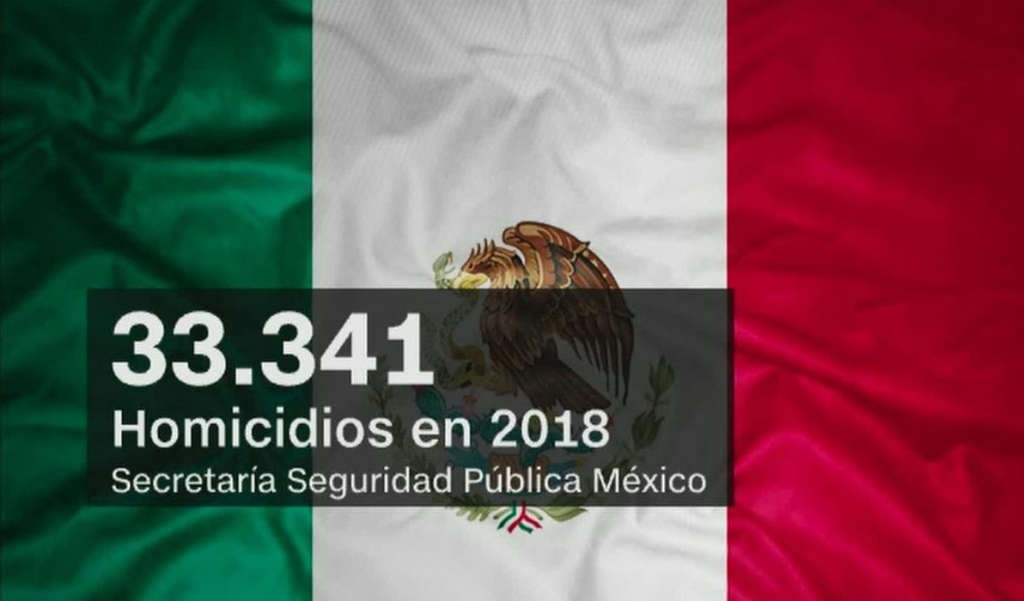 Publican cifras de homicidios en México para 2018