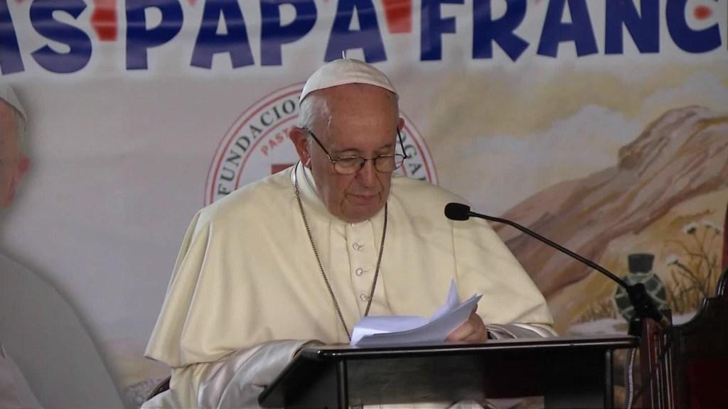 Papa: Los cadetes fueron asesinados por odio terrorista