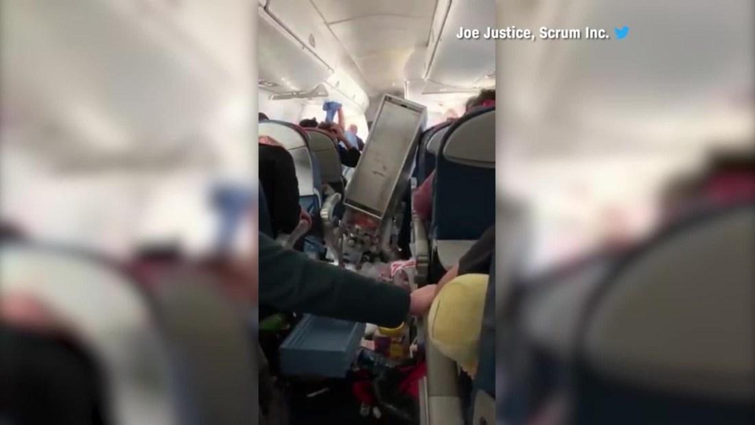 Turbulencia en un vuelo de la aerolínea Delta