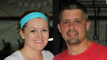 row approved photo of Josh Pinkard, victim of Aurora workplace shooting, and his wife Terra